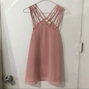 Angl Pink Strappy tank top